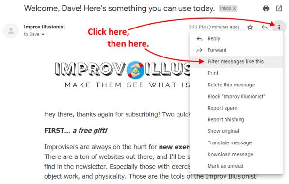 Approved Sender Instructions - Step 1
