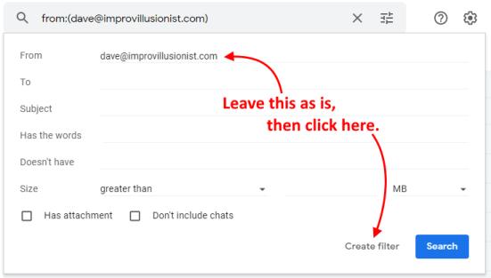 Approved Sender Instructions - Step 2